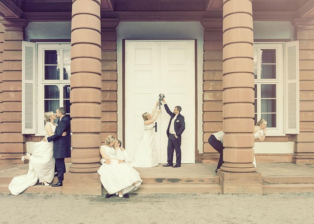 Hochzeit x 4 mit individuellen Trauringen; Eigentumsrechte: Reflexion - Das Photoatelier