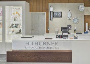 Uhren Thurner Verkaufsraum; Foto: Uhren Thurner